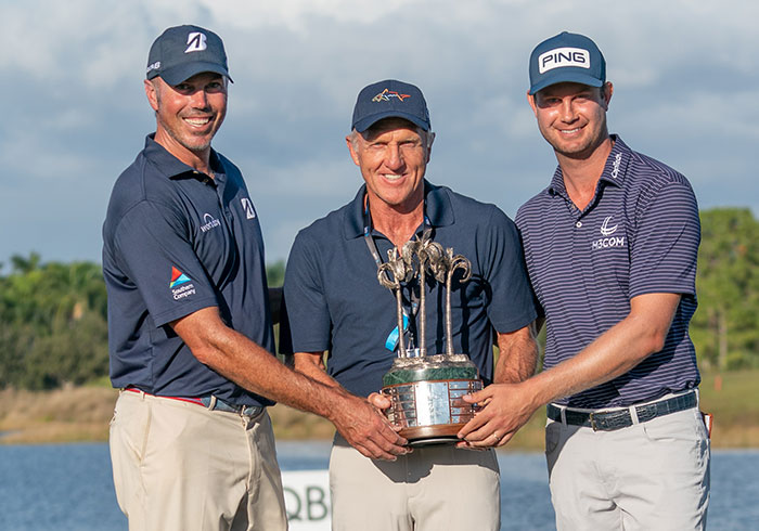 Matt Kuchar, Greg Norman, Harris English