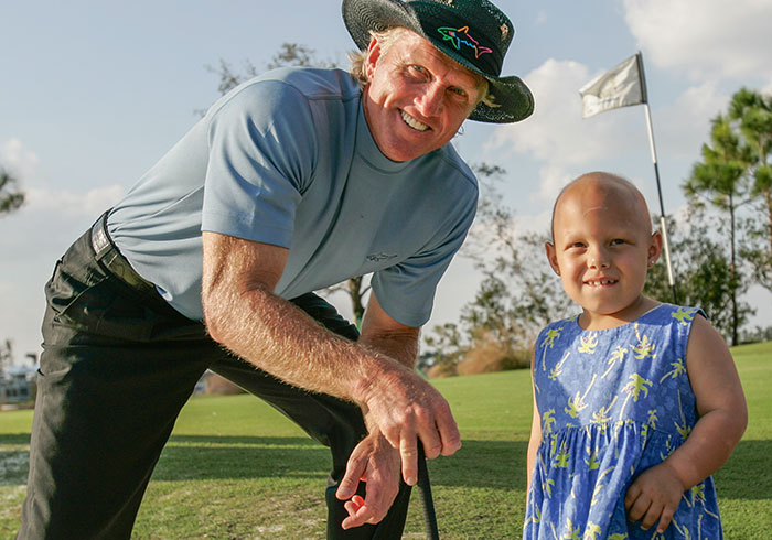 Greg Norman with Child Cancer Patient